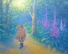 "'Foxglove Dream'    oil on paper    20""x16"" (deep edge canvas)"