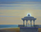 "'Bandstand Handstand 1' oil on canvas 20"" x 16"""