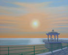 'Bandstand Handstand 2' oil on canvas 100cm x 80cm (deep edge canvas).